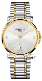 Certina DS Caimano Gent Silver colored/Yellow gold toned steel Ø38 mm C017.410.22.037.00