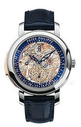 Patek Philippe Grand Complications Skeleton cut/Leather Ø43 mm 5104P/001