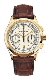 Patek Philippe Complicated Silver colored/Leather Ø39 mm 5170J/001