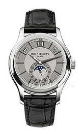 Patek Philippe Complicated Annual Calender Silver colored/Leather Ø40 mm 5205G/001
