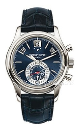 Patek Philippe Complicated Blue/Leather Ø40.5 mm 5960P/015