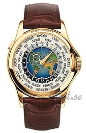 Patek Philippe Complicated Europe-Asia World Time Multi-colored/Leather Ø39.5 mm 5131J/001