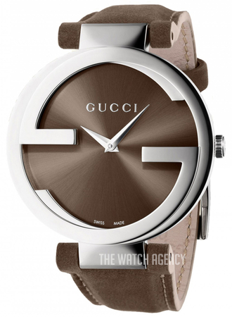 aec53943e2c Gucci Interlocking Brown Leather Ø37 mm ref. YA133319