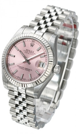 Datejust Midsize Pink Steel O31 Mm Ref 178274 0012