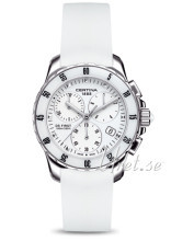 Certina DS First Lady Ceramic Chrono White/Rubber Ø35 mm