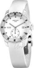 Certina DS First Lady Ceramic Small Second White/Rubber Ø34.8 mm