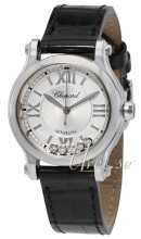 Chopard Happy Sport 30 MM Automatic Silver colored/Leather Ø30 m