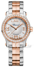 Chopard Happy Sport 30 MM Automatic Silver colored/18 carat rose