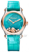Chopard Happy Fish 36 MM Automatic Blue/Leather Ø36 mm