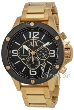 Emporio Armani Black/Yellow gold toned steel