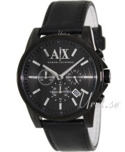 Emporio Armani Exchange Chronograph Black/Leather
