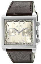 Emporio Armani Silver colored/Leather