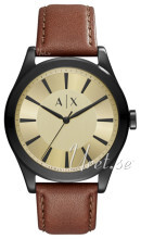 Emporio Armani Yellow gold toned/Leather