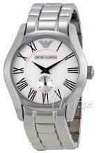 Emporio Armani Mens Silver colored/Steel Ø43 mm