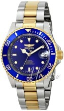 Invicta Pro Diver Blue/Yellow gold toned steel Ø40 mm