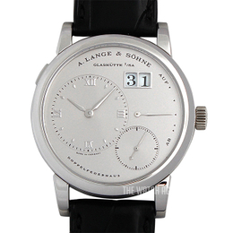 A. Lange & Söhne Lange 1 Silver colored/Leather Ø38.5 mm 101.025