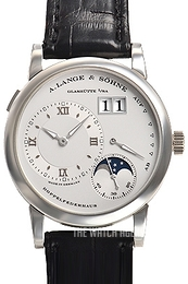 A. Lange & Söhne Lange 1 Moon Phase Silver colored/Leather Ø38.5 mm 109.025