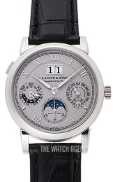A. Lange & Söhne Langematik-Perpetual Silver colored/Leather Ø38.5 mm 310.025