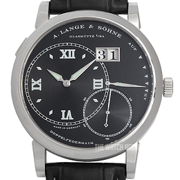 A. Lange & Söhne Lange 1 Black/Leather Ø42 mm 115.028