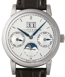 A. Lange & Söhne Saxonia Silver colored/Leather Ø38.5 mm 330.026