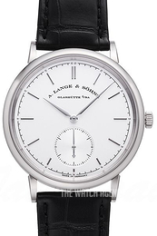 A. Lange & Söhne Saxonia Silver colored/Leather Ø38.5 mm 380.026
