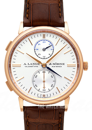 A. Lange & Söhne Saxonia Silver colored/Leather Ø38.5 mm 386.032