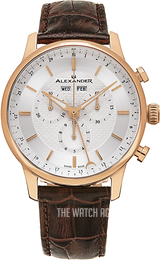 Alexander Statesman Silver colored/Leather Ø42 mm A101-05