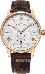 Alexander Statesman Silver colored/Leather Ø42 mm A102-05