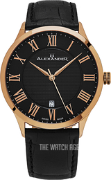 Alexander Statesman Black/Leather Ø42 mm A103-05