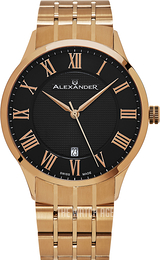 Alexander Statesman Black/Rose gold colored steel Ø42 mm A103B-04