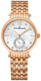 Alexander Monarch Silver colored/Rose gold colored steel Ø34 mm A201B-03