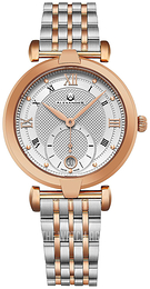 Alexander Monarch Silver colored/Rose gold colored steel Ø35 mm A202B-03