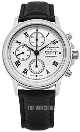 Alexander Statesman Silver colored/Leather Ø42 mm A473-02