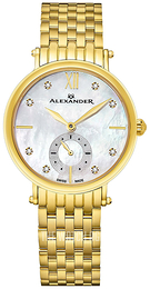 Alexander Monarch Silver colored/Yellow gold toned steel Ø34 mm AD201B-02