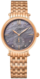 Alexander Monarch Grey/Rose gold colored steel Ø34 mm AD201B-04