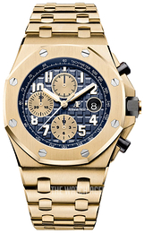 Audemars Piguet Royal Oak Offshore Blue/18 carat yellow gold Ø42 mm 26470BA.OO.1000BA.01