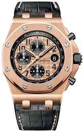 Audemars Piguet Royal Oak Offshore Rose gold colored/Leather Ø42 mm 26470OR.OO.A002CR.01