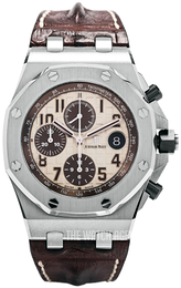 Audemars Piguet Royal Oak Offshore Antique white/Leather Ø42 mm 26470ST.OO.A801CR.01