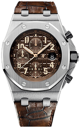 Audemars Piguet Royal Oak Offshore Brown/Leather Ø42 mm 26470ST.OO.A820CR.01