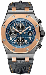 Audemars Piguet Royal Oak Offshore Blue/Leather Ø42 mm 26471SR.OO.D101CR.01