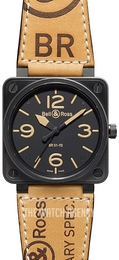 Bell & Ross BR 01-92 Black/Leather Ø46 mm BR0192-HERITAGE