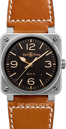 Bell & Ross BR 03-92 Black/Leather Ø42 mm BR0392-ST-G-HE-SCA