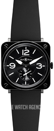 Bell & Ross BR S Quartz Black/Rubber Ø39 mm BRS-BL-CERAMIC-SRB