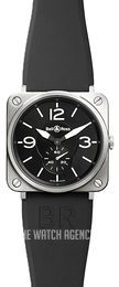 Bell & Ross BR S Quartz Black/Rubber Ø39 mm BRS-BL-ST-SRB