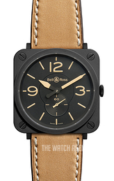 Bell & Ross BR S Quartz Black/Leather Ø39 mm BRS-Heritage