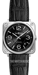 Bell & Ross BR S Mecanique Black/Leather Ø39 mm BRS92-BL-ST