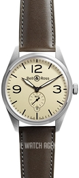 Bell & Ross BR 123 Brown/Leather Ø41 mm BRV123-BEI-ST-SCA