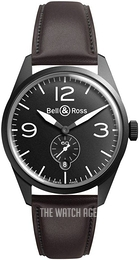 Bell & Ross BR 123 Black/Leather Ø41 mm BRV123-BL-CA-SCA
