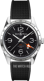 Bell & Ross BR 123 Black/Rubber Ø41 mm BRV123-BL-GMT-SRB