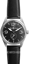 Bell & Ross BR 123 Black/Leather Ø41 mm BRV123-BL-ST-SCA